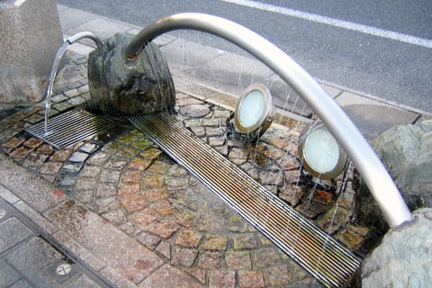 Sidewalk fountain
